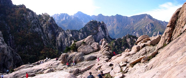Mount Gwonggeumseong in Seoraksan National Park