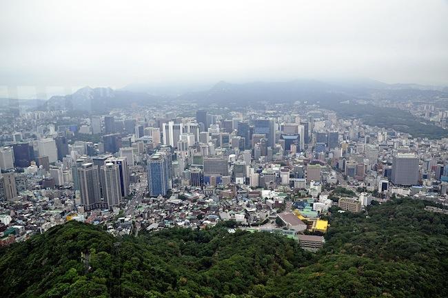 foto dari namsan tower