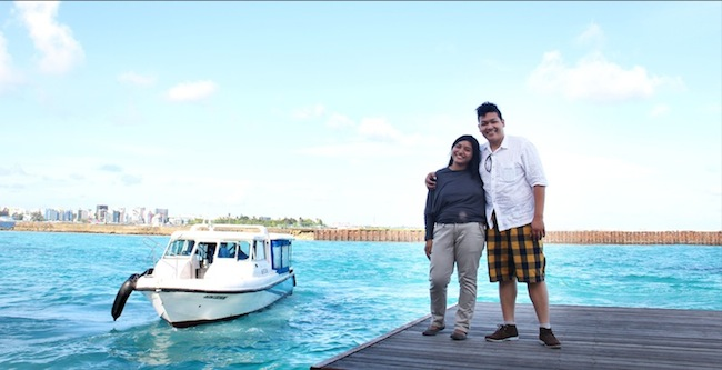 me and my wife Nina in Maldives, what a wonderful place to visit