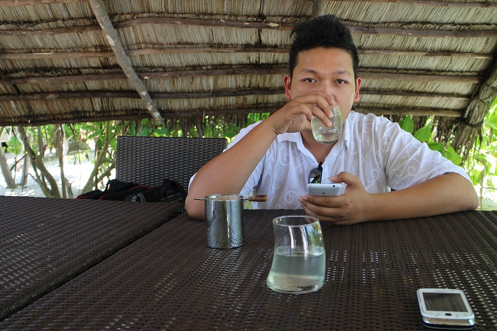 With cucumber drink as our welcome drink