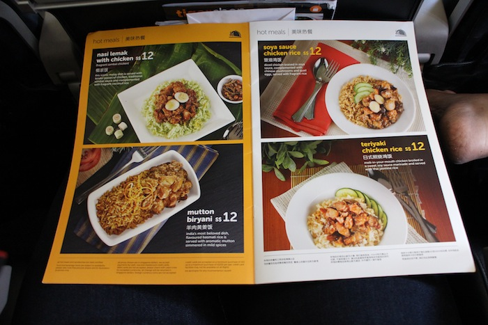 tiger air menu