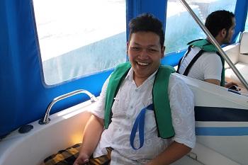 Didalam speed boat