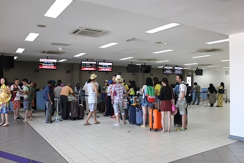 Suasana Bandara Khusus Domestic Flight