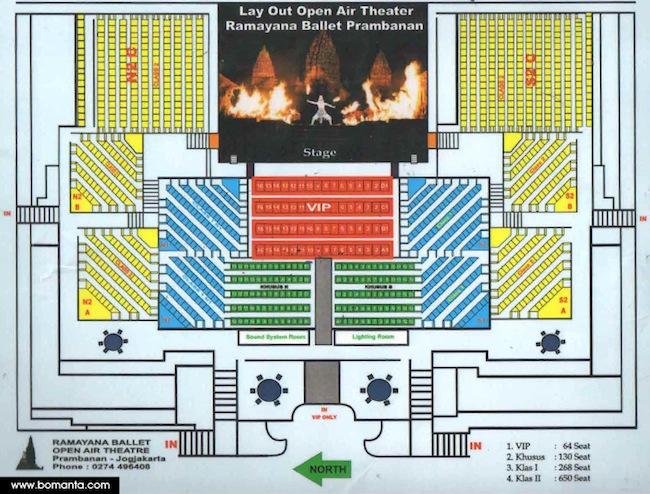 layout tempat duduk sendratari ramayana panggung terbuka