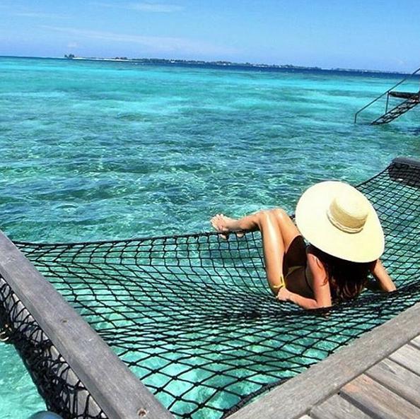 chelsea olivia liburan ke maldives