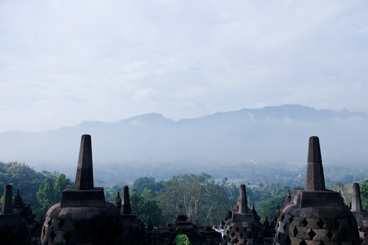 sunrise tour from inside borobudur