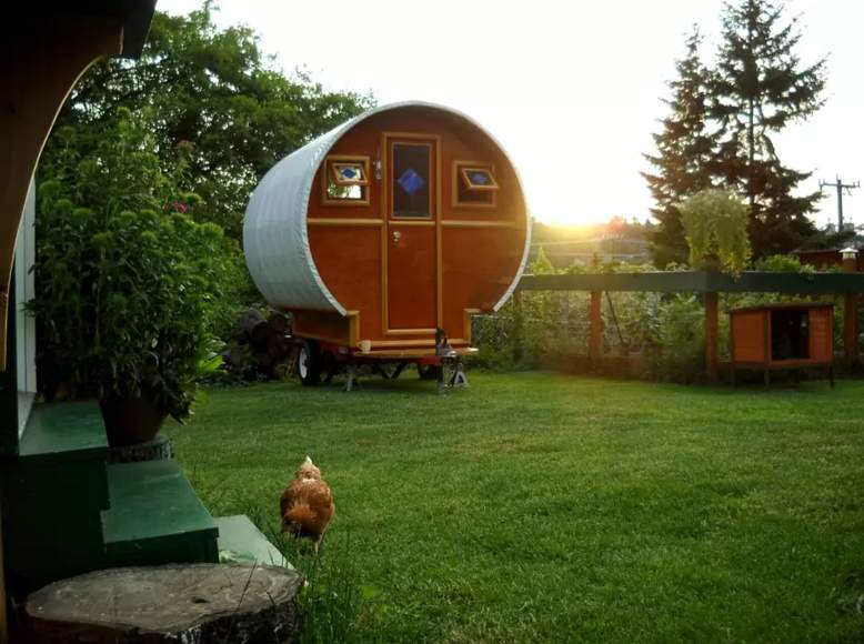 Hand crafted Gypsy Wagon with heart