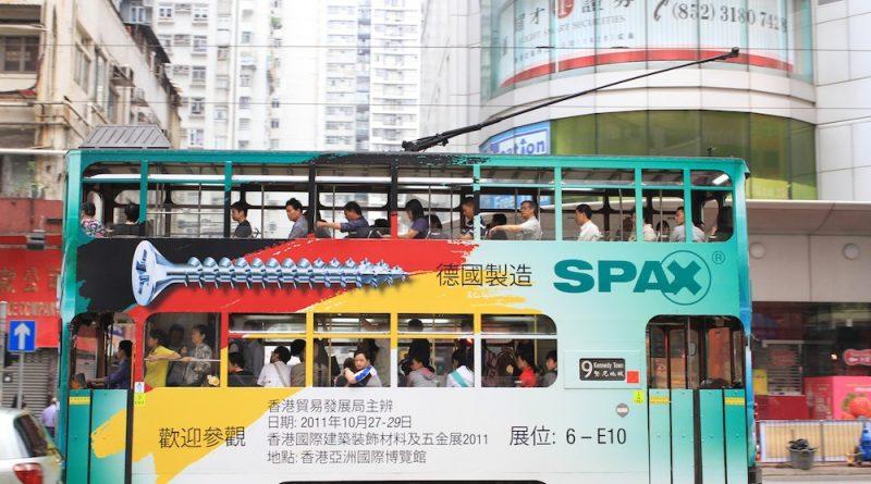 cara naik tram di hong kong