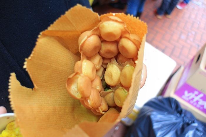 makanan khas hong kong egg waffle