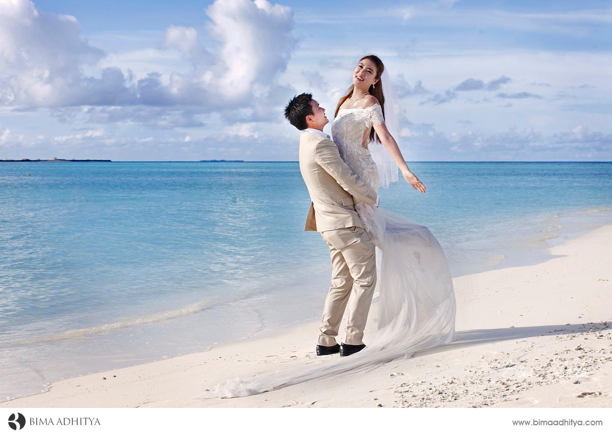 contoh foto pre wed di maladewa