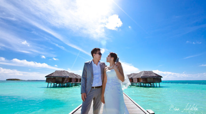 foto pre wedding di maldives