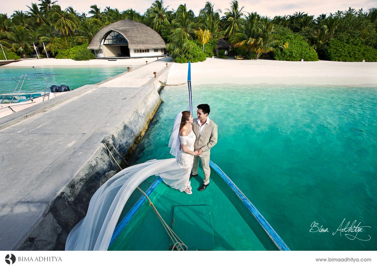 pre wedding di maladewa