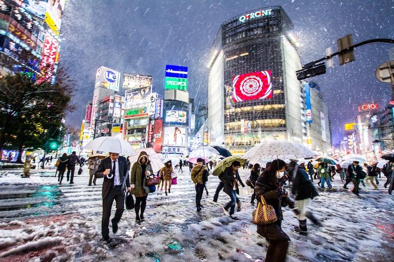 musim dingin di shibuya tokyo