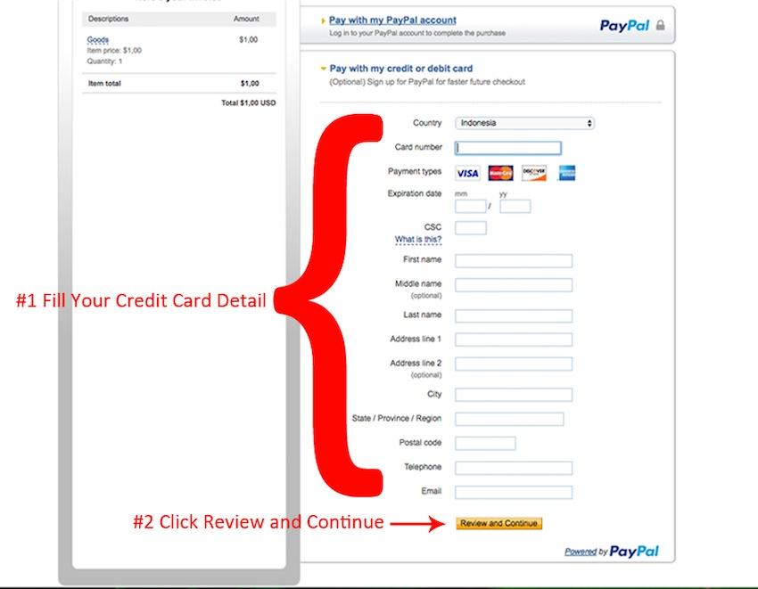 panduan bayar paypal #4