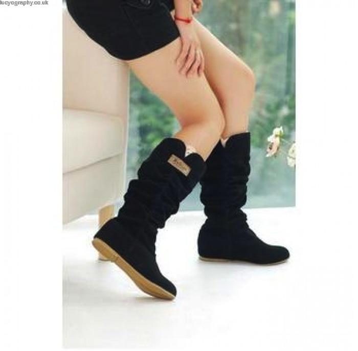 lalang sepatu boot wanita