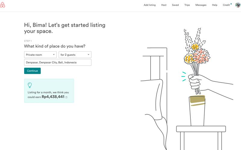 cara mendaftarkan hotel di airbnb