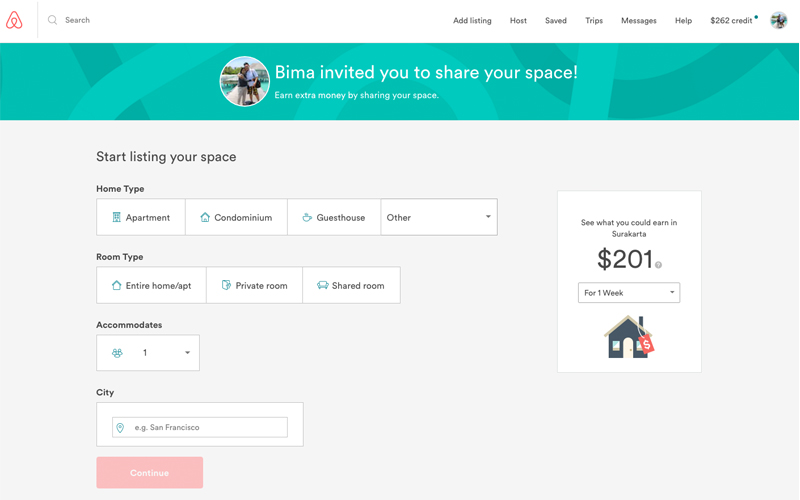 cara mendaftarkan rumah di airbnb