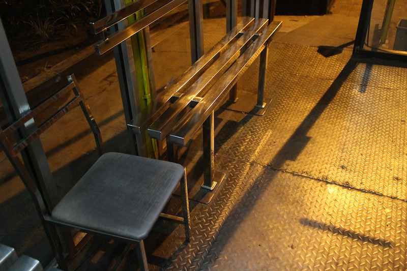bench on trans jogja bus stop