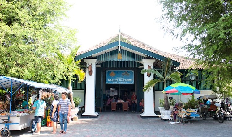 horse carriage museum entrance gate yogyakarta