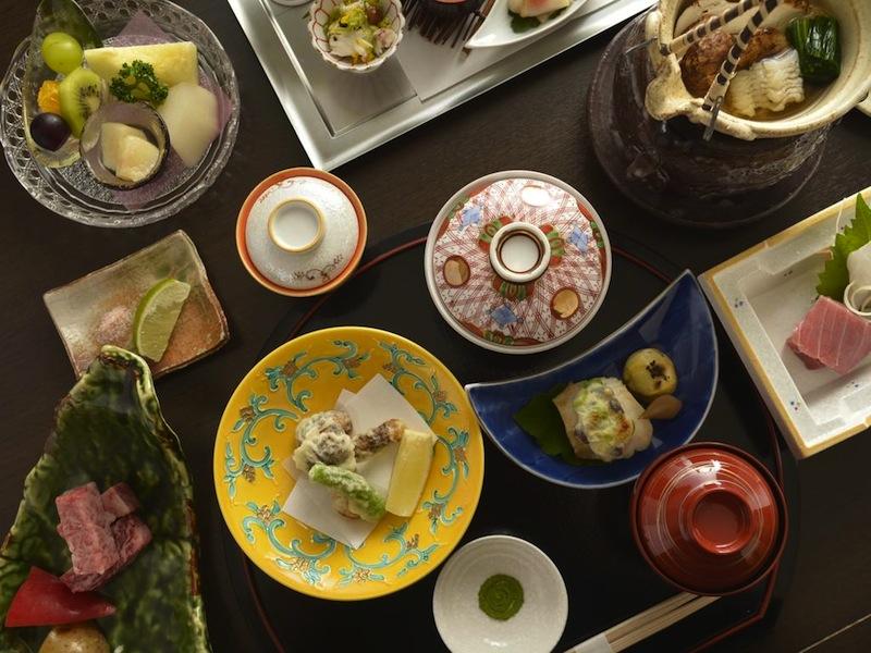 food in luxury hotel in Hakone