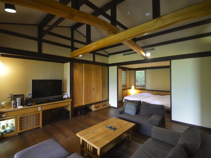 interior of luxury hotel in Hakone