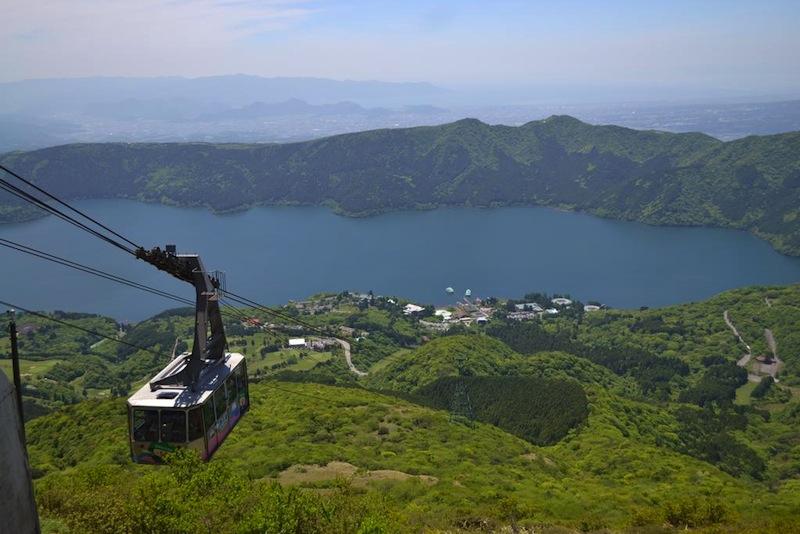 view lake ashinoko from above